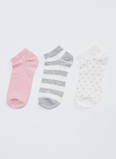 DeFacto 3'lü Jakarlı Çorap Renkli